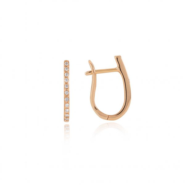 rose gold and diamond hoop earrings