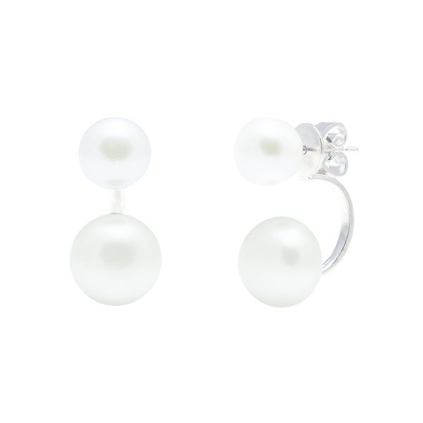 White pearl and sterling silver