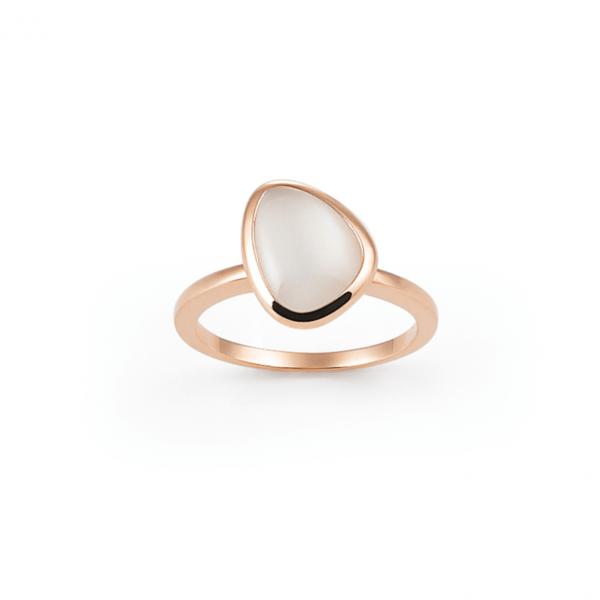 rose gold moonstone ring