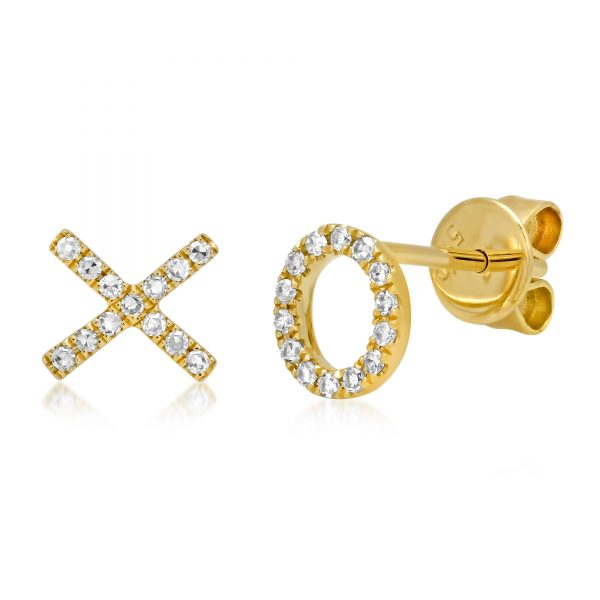 gold hugs and kisses earrings