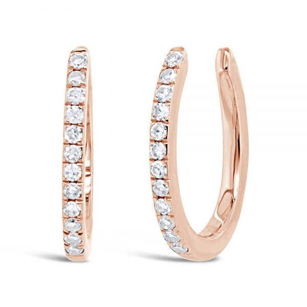rose gold diamond ear cuff