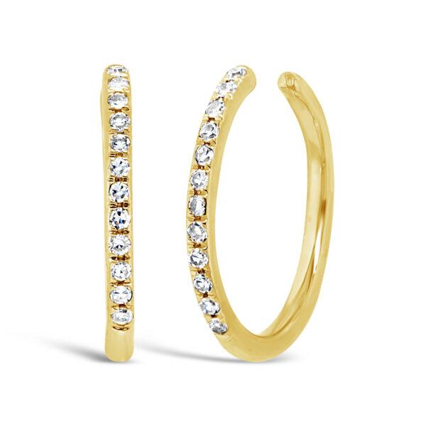 gold diamond ear cuff