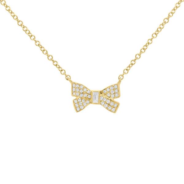 baguette diamond necklace gold