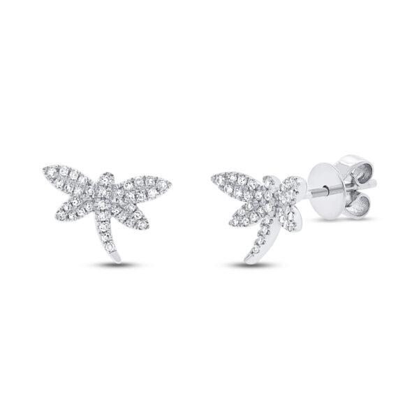 dragonfly earrings white gold