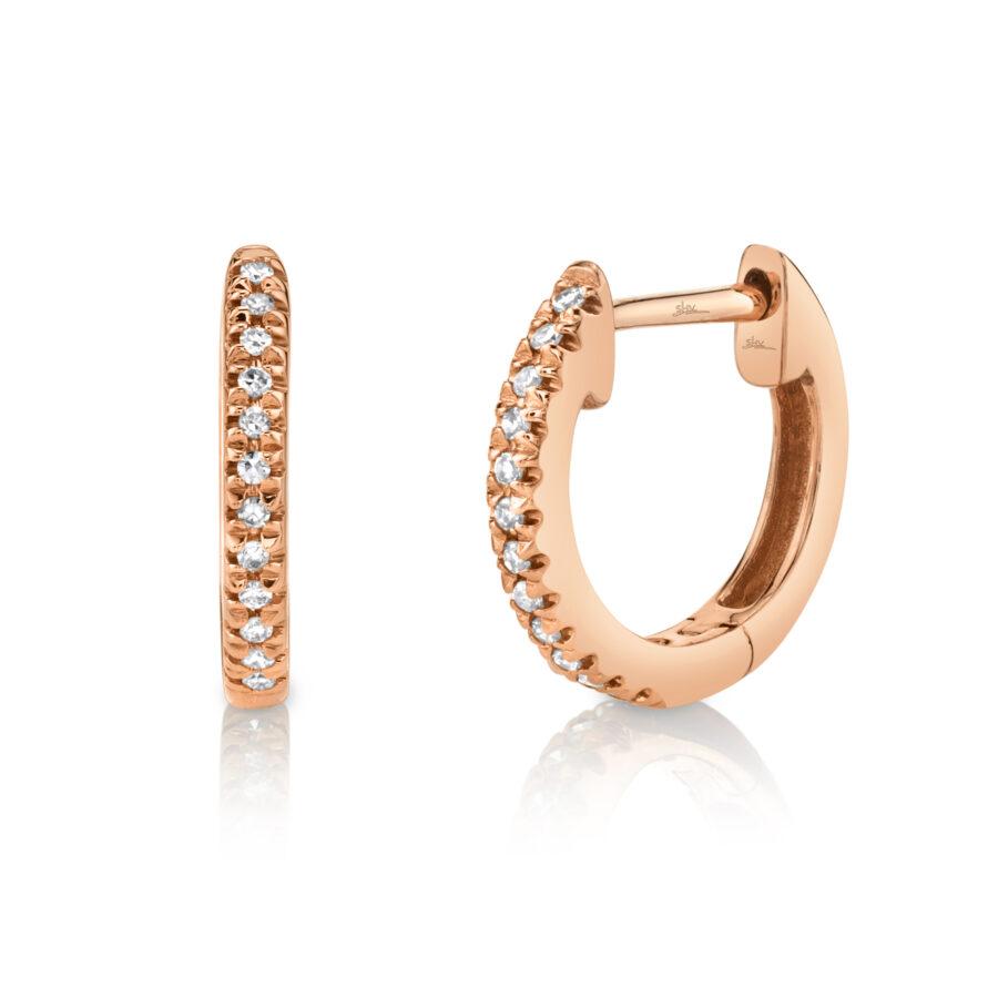medium diamond hoop earrings