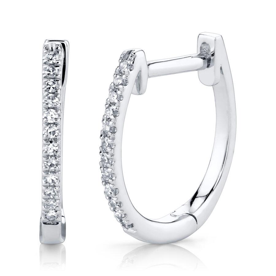 white gold diamond hoop earrings large