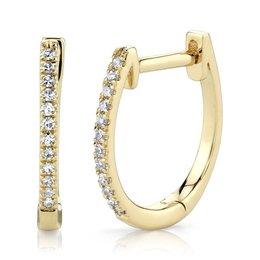 large diamond hoop earrings yellow gold