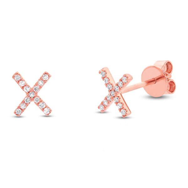 diamond kiss earrings