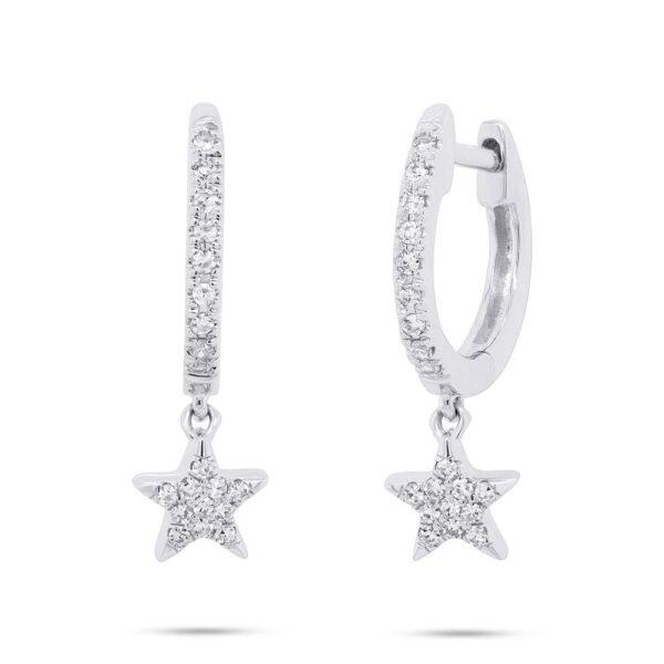 star hoop earrings small