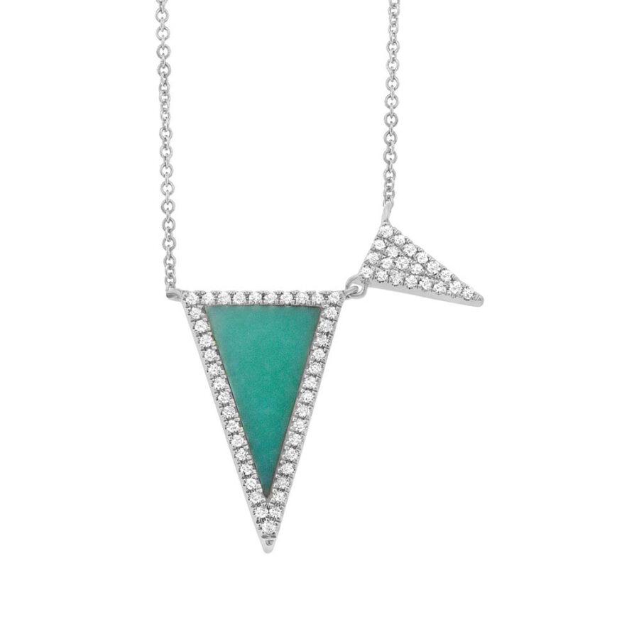 turquoise diamond necklace