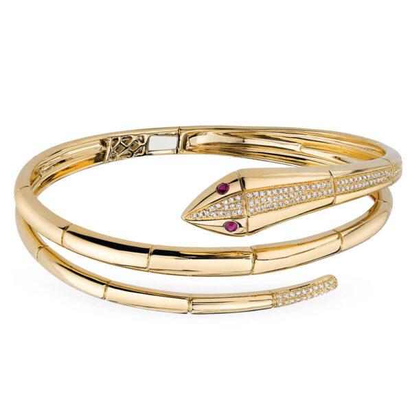 snake bangle bracelet gold