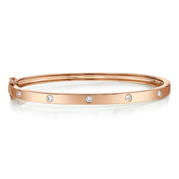 rose gold diamond bangle bracelet
